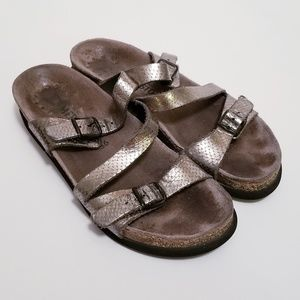 Mephisto EU 36/US 6 Silver Two Strap Sandals